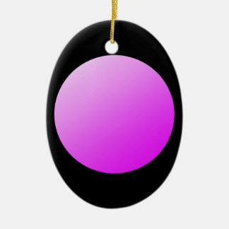 Pink spots on black. ceramic ornament