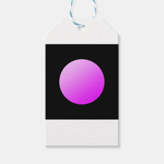 Pink spots on black. gift tags