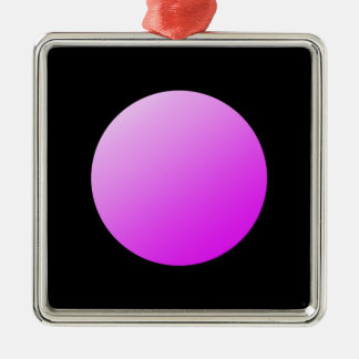 Pink spots on black. metal ornament