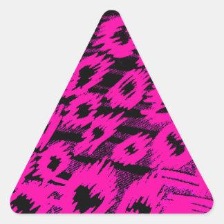 Pink Spots Pattern Triangle Sticker