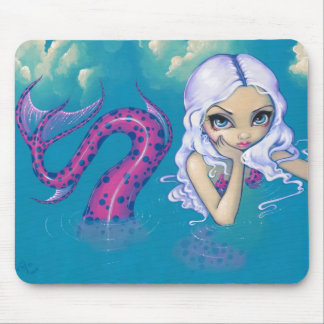 """Pink Spotted Mermaid"" Mousepad"