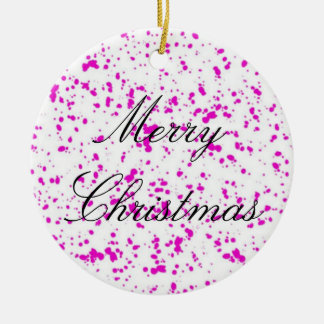 Pink Spotted Ornament