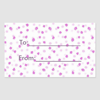 Pink Spotted Sticker