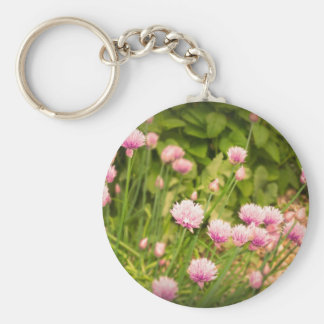 Pink Spring Alliums Keychain