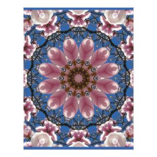 Pink spring blossoms 2.2.2, Nature Mandala Letterhead