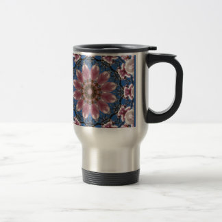 Pink spring blossoms 2.2.2, Nature Mandala Travel Mug