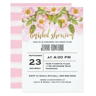 Pink Spring Floral Bridal Shower Invitation