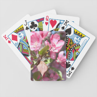 Pink Spring Flower Blossoms Bicycle Playing Cards