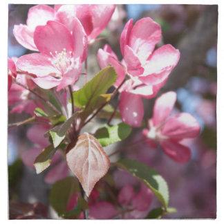 Pink Spring Flower Blossoms Napkin