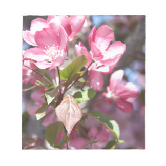 Pink Spring Flower Blossoms Notepad