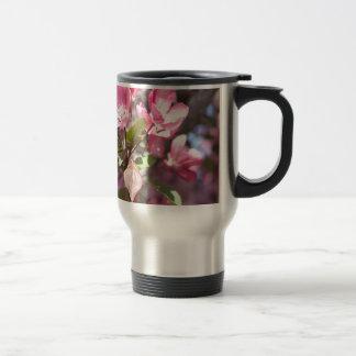 Pink Spring Flower Blossoms Travel Mug
