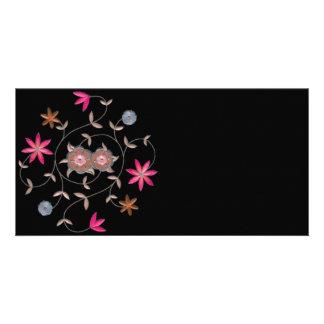 Pink Spring Flower Garden Picture Card