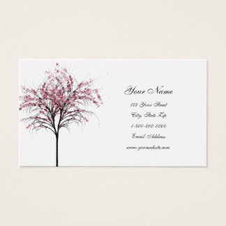 Pink Spring Trees Business Cards