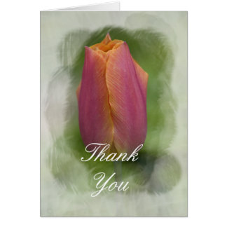 Pink Spring Tulip Thank You Card