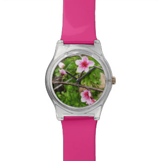 Pink Springtime Blossoms, Ladies Hot Pink Watch