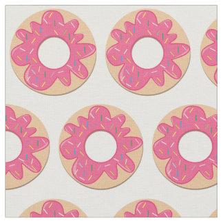 Pink Sprinkle Donut Fabric