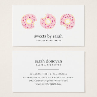 Pink Sprinkle Doughnut Business Card