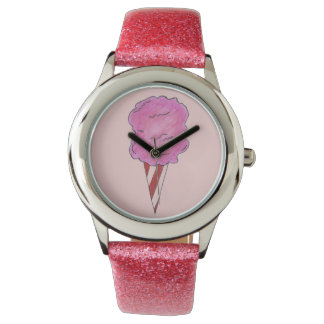 Pink Spun Sugar Cotton Candy Carnival Watch