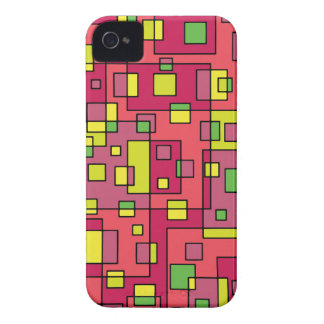 Pink square background Case-Mate iPhone 4 cases