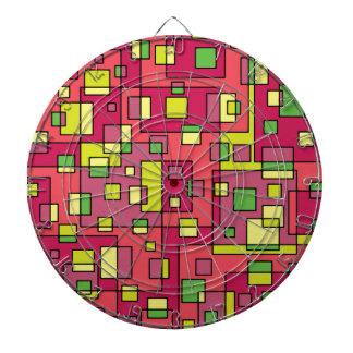 Pink square-background dart board