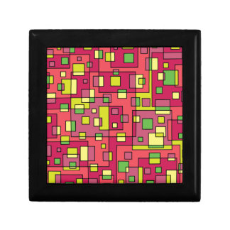 Pink square background gift box
