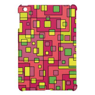 Pink square-background iPad mini cover
