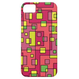 Pink square background iPhone 5 cases