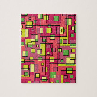 Pink square background jigsaw puzzle