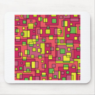 Pink square background mouse pad