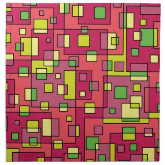 Pink square-background napkin