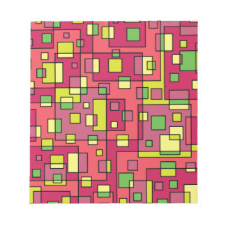 Pink square background notepad