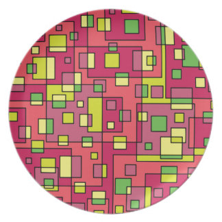 Pink square-background plate