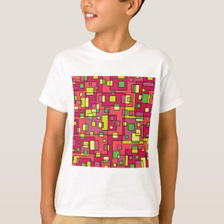 Pink square-background T-Shirt