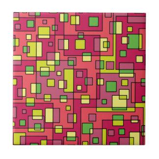 Pink square background tile