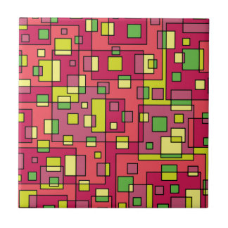 Pink square-background tile