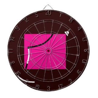 Pink square dartboards