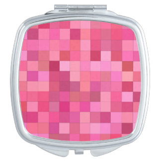 Pink Square Mosaic Mirror For Makeup
