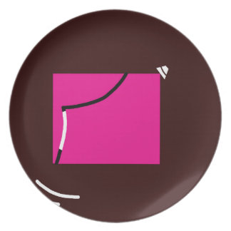 Pink square plate