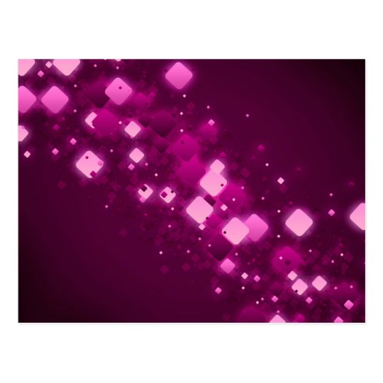 Pink square sparkle postcard