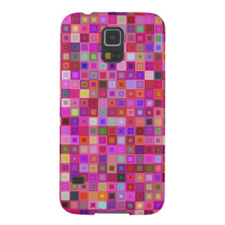 Pink square tiles cases for galaxy s5