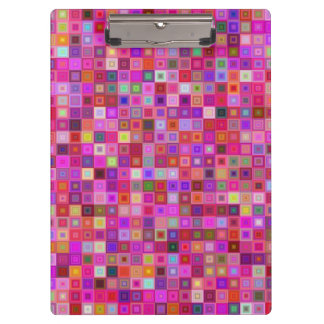 Pink square tiles clipboard