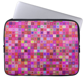 Pink square tiles computer sleeves