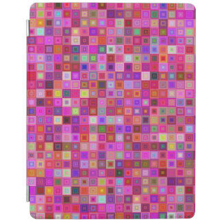 Pink square tiles iPad cover
