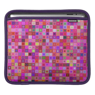 Pink square tiles sleeves for iPads