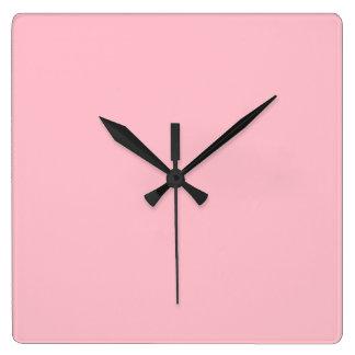 Pink Square Wall Clock