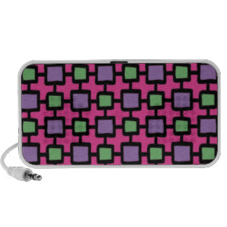 Pink Squares NEW Portable OrigAudio Doodle Speaker