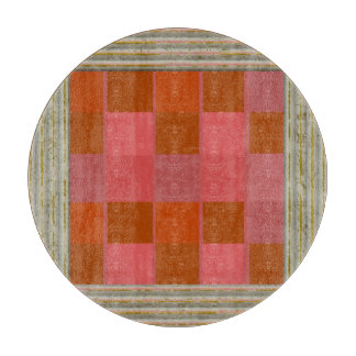 Pink Squares Pattern Cutting Board