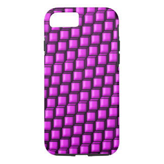 Pink Squares Tough iPhone 7 Case