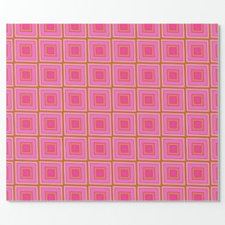 Pink Squares Wrapping Paper