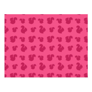 Pink squirrel pattern post cards